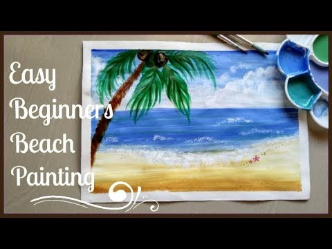 Easy Beach Painting With Acrylic Paints