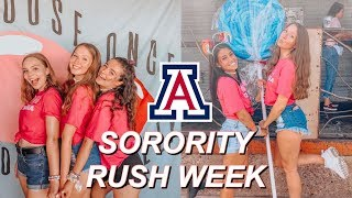 SORORITY RUSH WEEK VLOG | University of Arizona