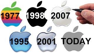 Gambar cover Artist Draws the Apple Logo Evolution - 1977 through Today