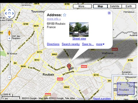 localiser adresse ip google map