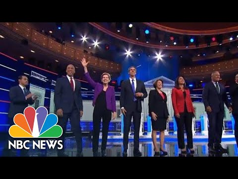 Democratic Candidates Hit President Donald Trump At The Debate | NBC News