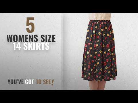 Top 10 Womens Size 14 Skirts [2018]: Ladies Elasticated Waist Skirt - 8 Great Patterns - Sizes 8-36