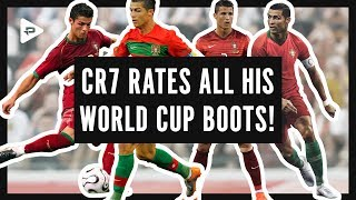 RONALDO ALL WORLD CUP FOOTBALL BOOTS HISTORY - Rated by CR7!