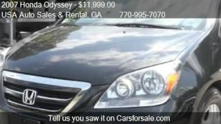 2007 Honda Odyssey EX-L w/Navi w/DVD 4dr Minivan w/DVD for s