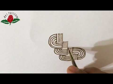 how to draw Celtic knot with henna mehndi