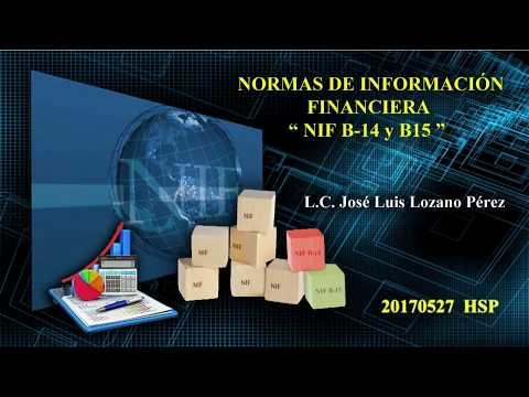 CADEFI - Normas de Información Financiera NIF B-14 y B-15 - 27 de mayo del 2017