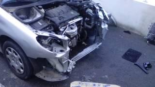 Réparation 206 après GROS ACCIDENT