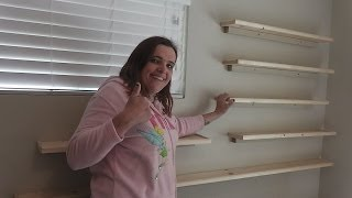 Rosie Builds & Installs Floating Shelves