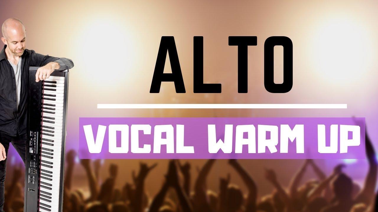 Alto Vocal Warm Up - Low Female Vocal Range