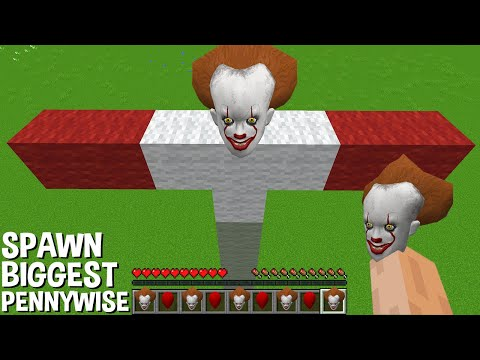 This is a SUPER SECRET WAY TO SPAWN BIGGEST PENNYWISE in Minecraft TITAN