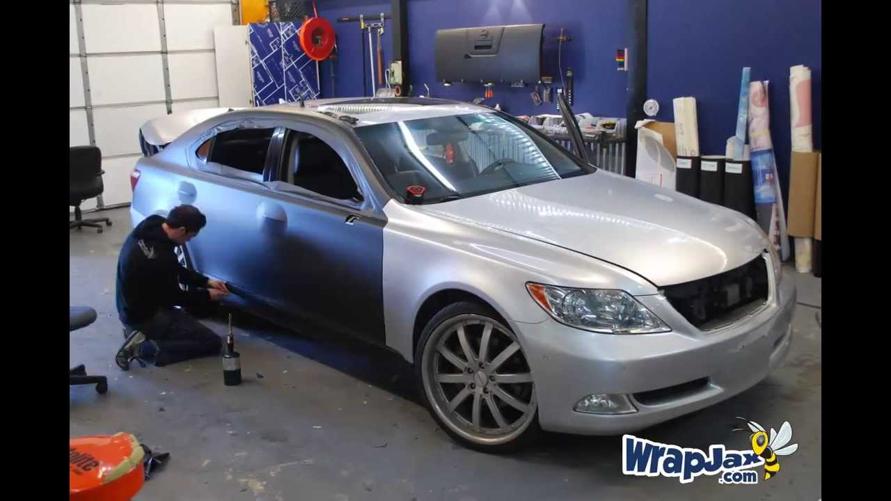 Matte Black Lexus Ls 460 3m 1080 Matte Black Vehicle
