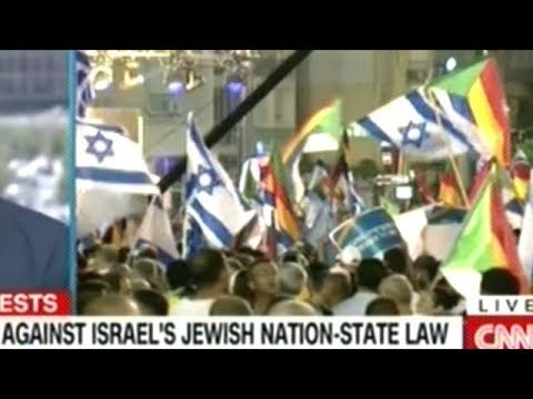 Tens Of Thousands Protest Israel's New Jewish-Nation State Law In Tel Aviv!