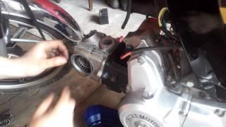 Стук в двигателе 139FMB. Замена поршневой в мопеде альфа. часть-1