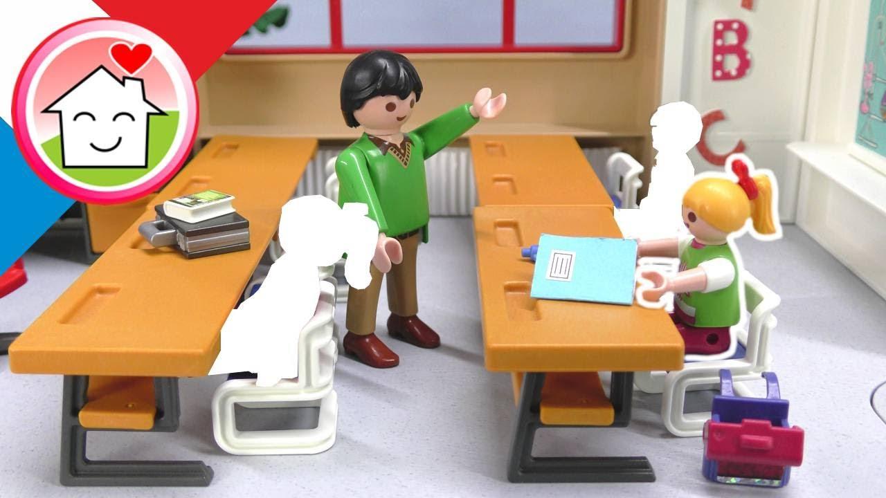 Playmobil en francais Lena seule à l'école –La nouvelle maternelle - Famille Hauser