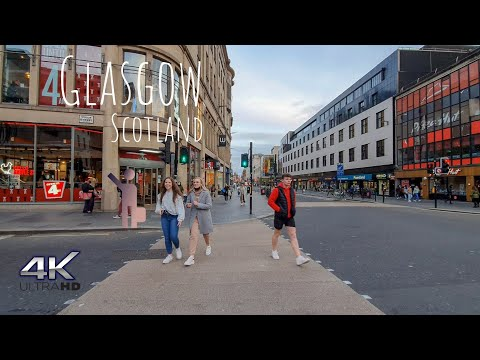 Glasgow Scotland UK | Walking City Tour 4K