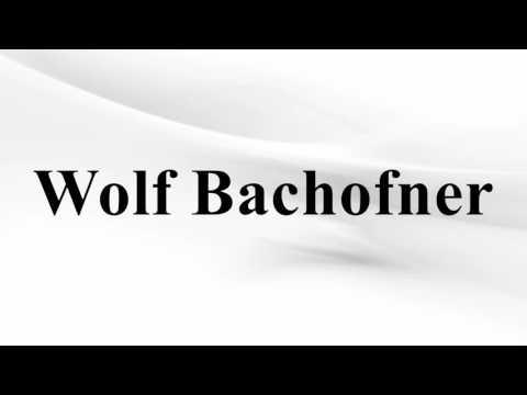 Wolf Bachofner