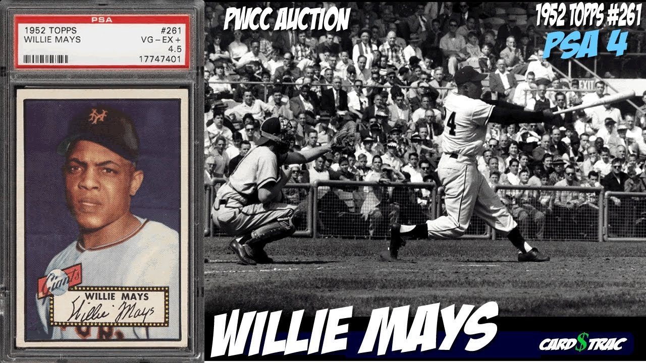 1952 Willie Mays Topps 261 Card For Sale Graded Psa 4 Mier Auctions