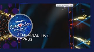 Cyprus - LIVE - Ivi Adamou - La La Love - First Semi-Final - ROBLOX Eurovision 2019