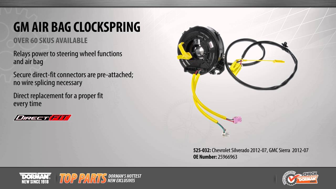 For Chevy Avalanche GMC Sierra 1500 Airbag Clock Spring Dorman 525-032