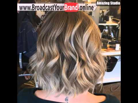 Braun Blond Wellig Ombre Bob Youtube