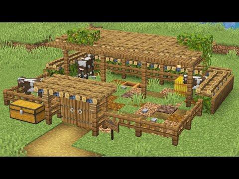 Простая ферма животных в майнкрафте