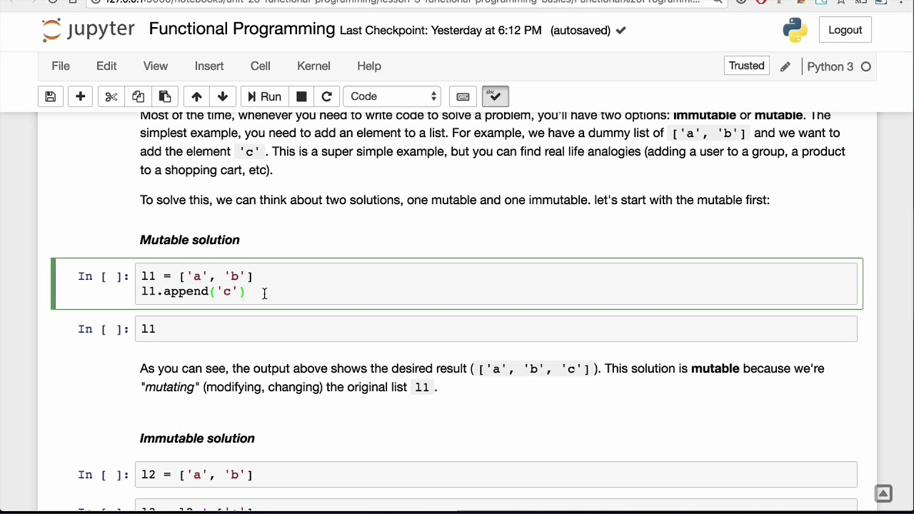 Functional Programming Basics Lesson - Base Python Track