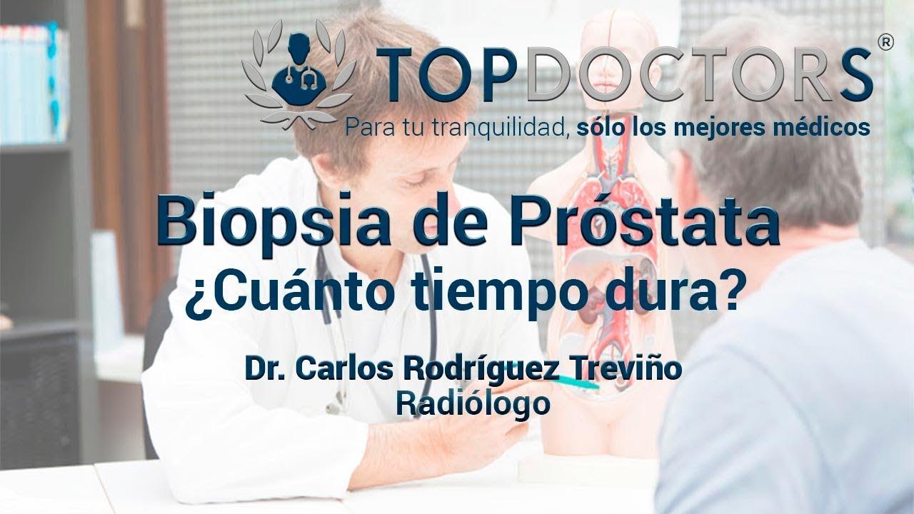 la biopsia de próstata duele