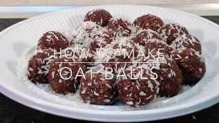 How To Make Oat Balls - Jmc
