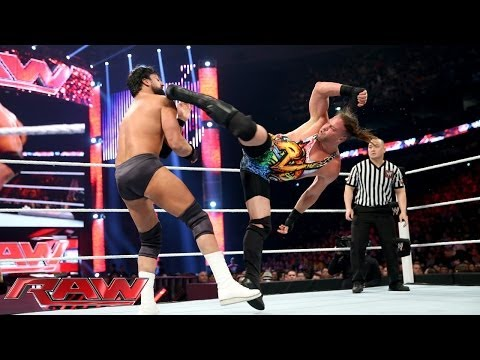 Rob Van Dam vs. Damien Sandow: Raw, April 7, 2014