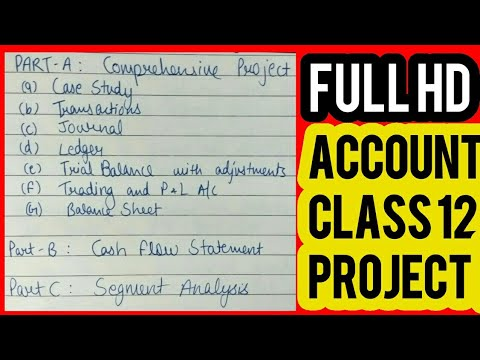 Accounts Project For Class 12 2017 18 1