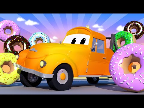 Tom the Tow Truck -  Special Donut Day - Dangerous Donuts - One Zeez & Car City  Trucks Cartoon