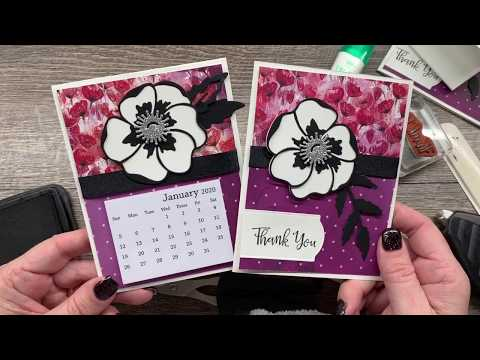 How To Create A Gorgeous Poppy Card And Coordinating Desktop Calendar