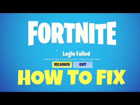 Unable To Login Into Fortnite Servers Bug Fix / Please Try Again Later Network Failure / Chapter 2