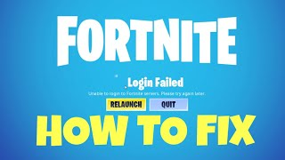 Unable To Login Into Fortnite Servers Bug Fix / Please Try Again Later Network Failure / Season 10