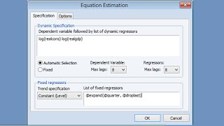 ardl estimation in eviews