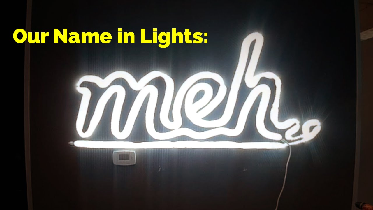 our name in american lighting led rope lights youtube