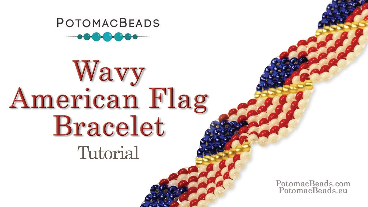 American Flag Seed Bead Patterns Bracelets
