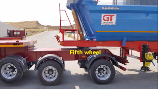 GURLESENYIL Tipper and Flatbed Semi Trailer with Fifth Wheel