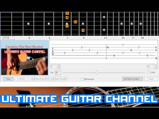 Guitar Solo Tab Cavatina The Deer Hunter Chords Chordify