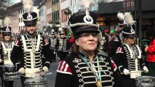 """Parade der närrischen Garden, Teil 1 / """"Schwarze Husaren"""" / Mainz 2012"""