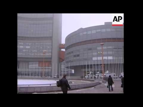 Exterior of IAEA building where board will meet over Iran