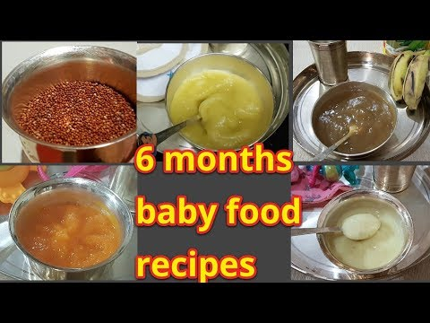 6 to 12 Month Babies Healthy Foods/5 variety food recipes