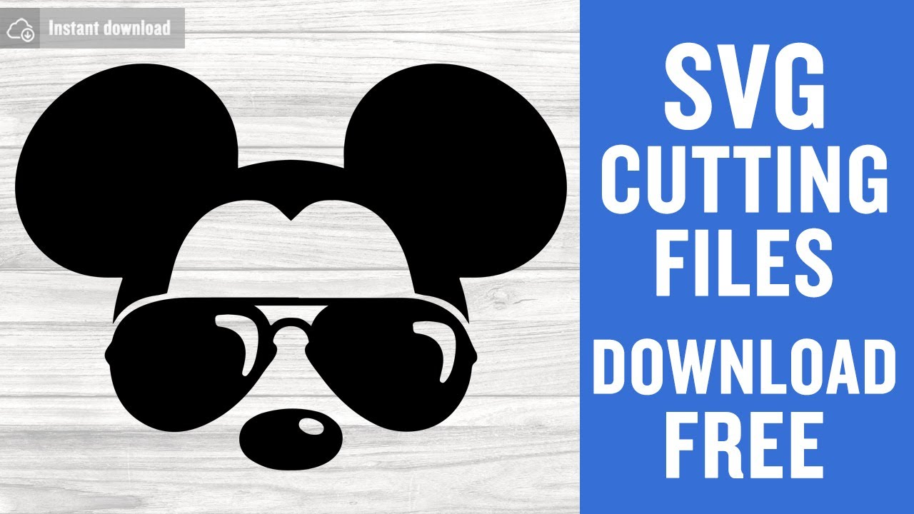 Mickey Mouse Sunglasses Svg Free Cutting Files For Silhouette Instant Download Youtube