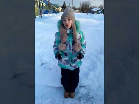 Киселева Юлия читает стихотворение Тютчева Зима недаром злится