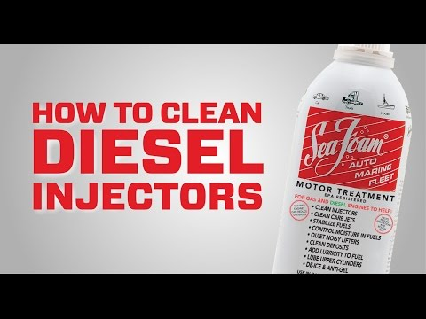 How to clean diesel fuel injectors without removing parts