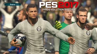 pes 17 gameplay pro evolution 2017 fc barcelona vs real madrid c f ps4