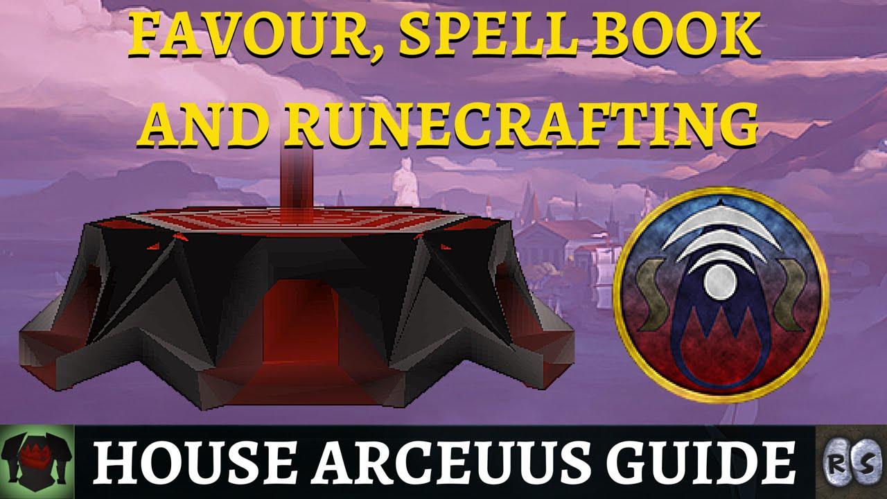 Guide to House Arceuus (Favour, Spellbook & Runecrafting)