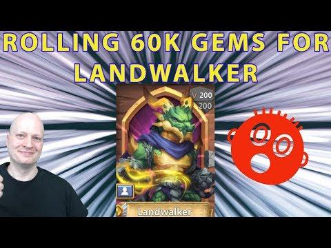 Rolling 50k Gems For Landwalker | Castle Clash New Hero I October Update
