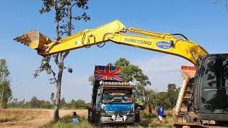 พาดูภารกิจวิ่งดินกันหน่อย Dump Truck Excavator