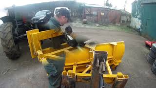 Preparing the snow plough  January 2019